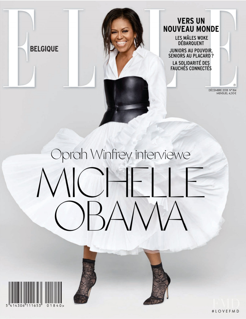 Michelle Obama featured on the Elle Belgium cover from December 2018