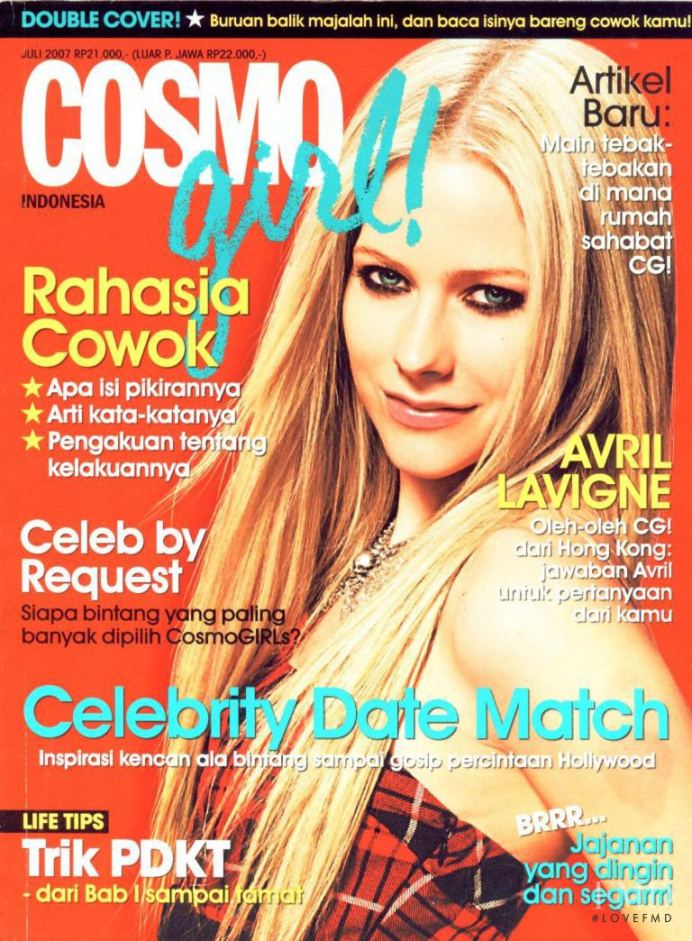 cover of cosmogirl indonesia with avril lavigne july 2007 id 5407