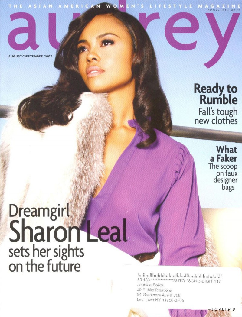 Sharon Leal featured on the Audrey Magazine cover from August 2007