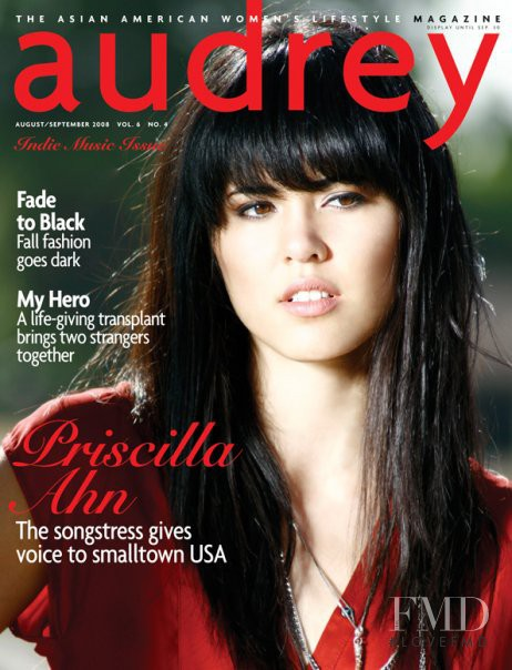 Priscilla Ahn featured on the Audrey Magazine cover from August 2008