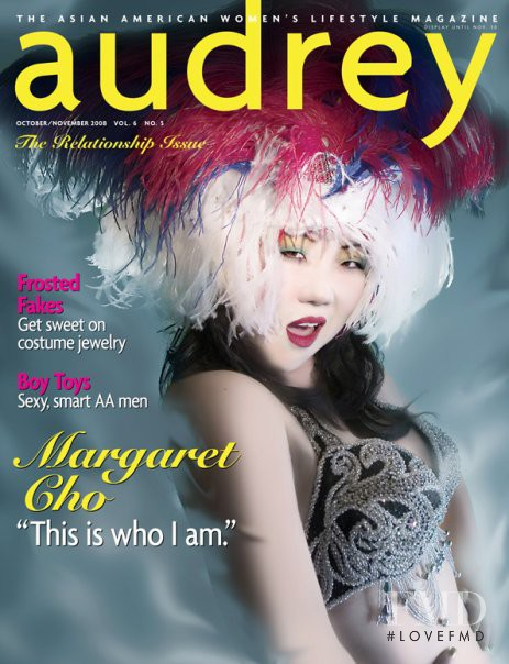 Margaret Cho featured on the Audrey Magazine cover from October 2008