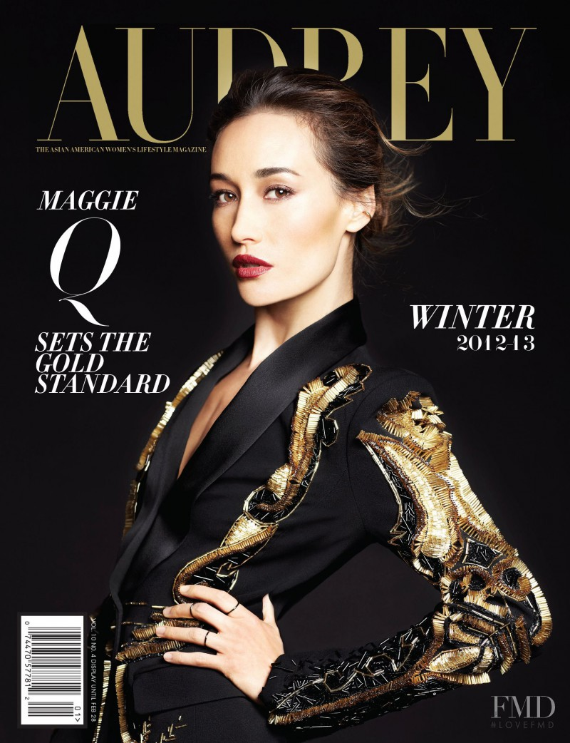 Maggie Quigley featured on the Audrey Magazine cover from December 2012