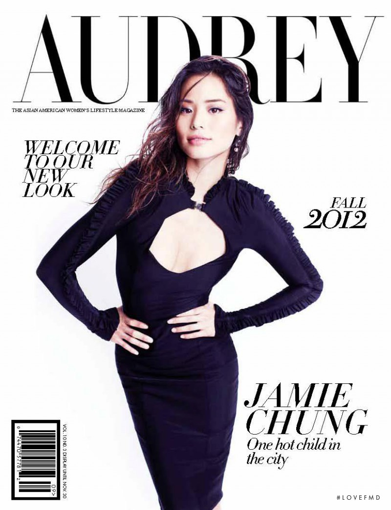 Jamie Chung featured on the Audrey Magazine cover from September 2012