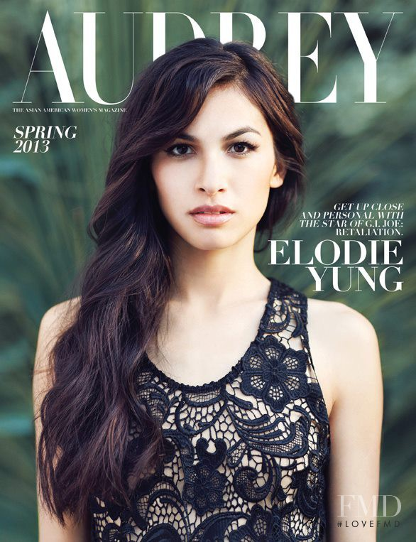 Elodie Yung featured on the Audrey Magazine cover from March 2013