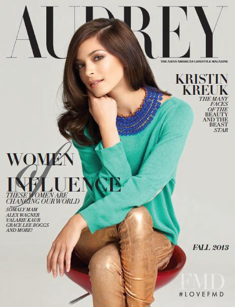 Kristin Kreuk featured on the Audrey Magazine cover from September 2013