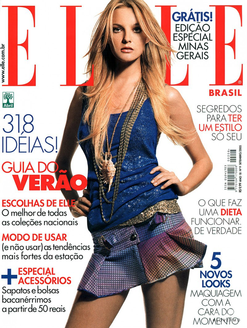 Caroline Trentini featured on the Elle Brazil cover from September 2005