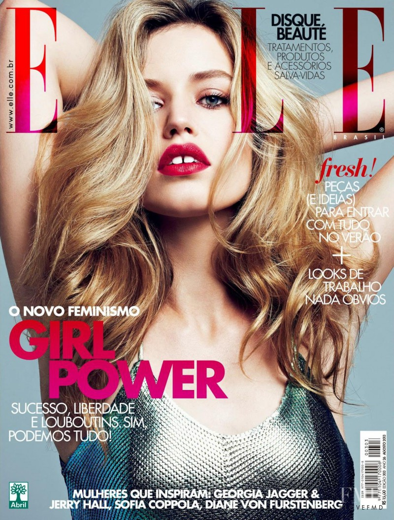 Georgia May Jagger featured on the Elle Brazil cover from August 2013