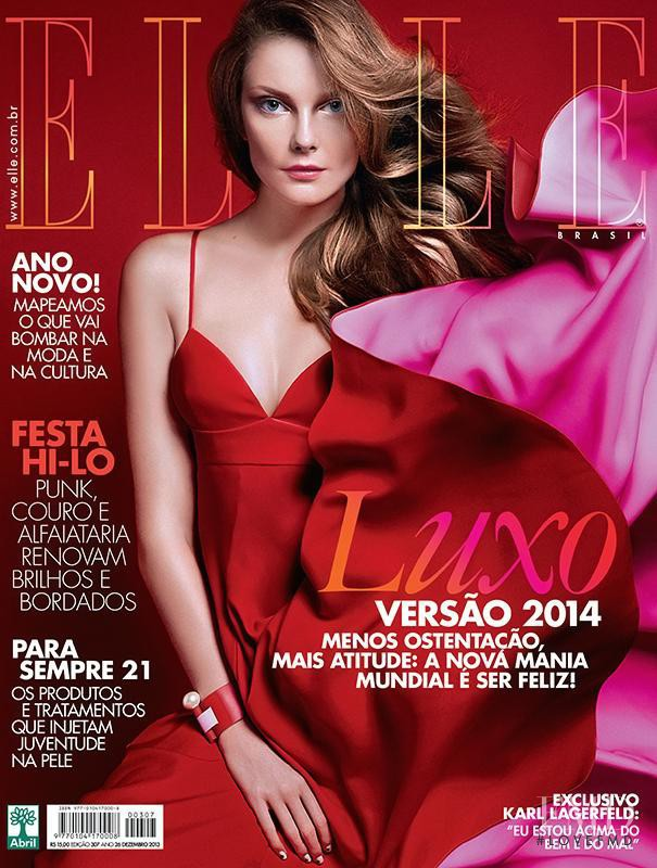 Eniko Mihalik featured on the Elle Brazil cover from December 2013