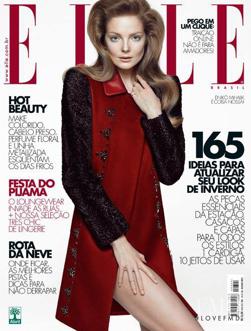 Eniko Mihalik featured on the Elle Brazil cover from June 2013