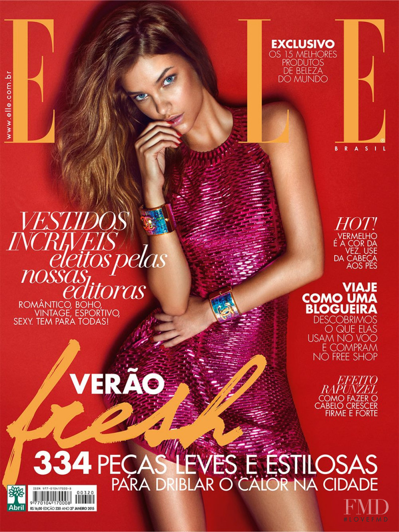 Barbara Palvin featured on the Elle Brazil cover from January 2015