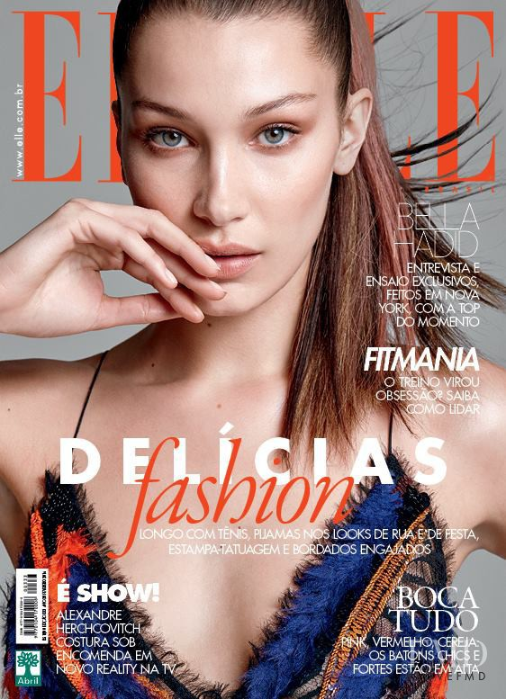 Bella Hadid featured on the Elle Brazil cover from February 2016