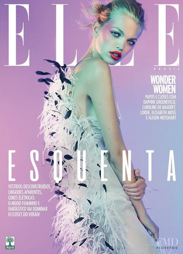 Daphne Groeneveld featured on the Elle Brazil cover from August 2017