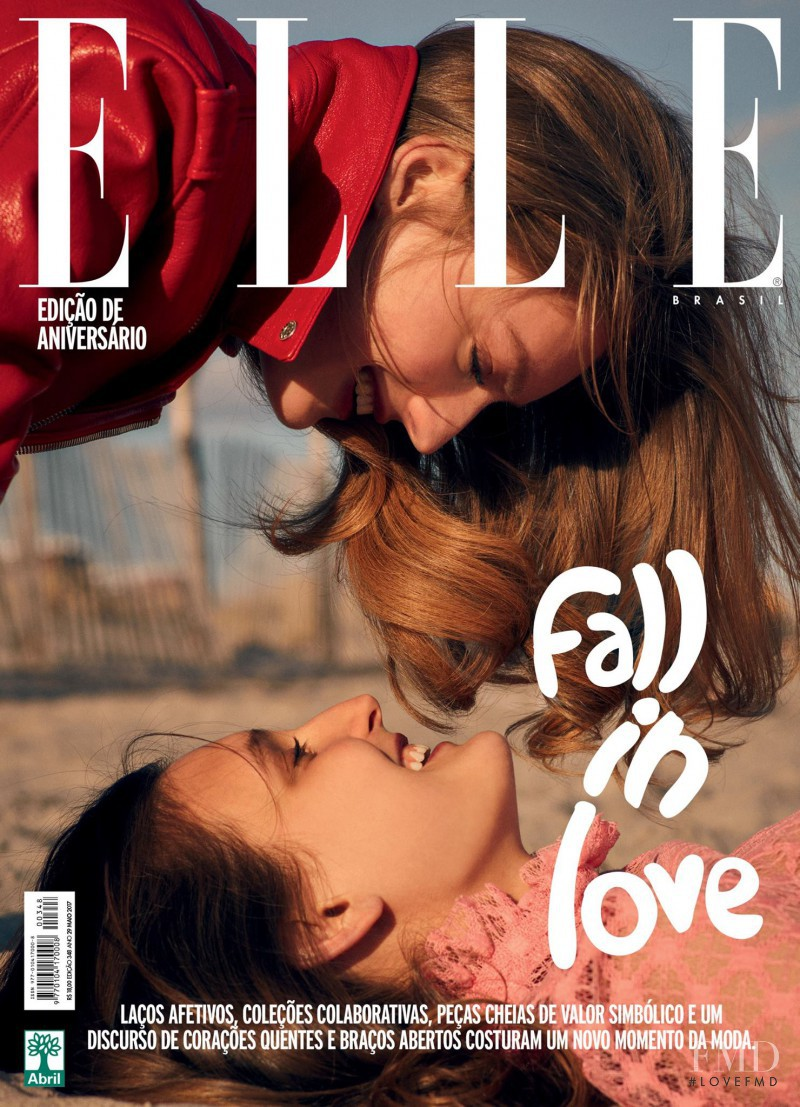 Susanne Knipper featured on the Elle Brazil cover from May 2017