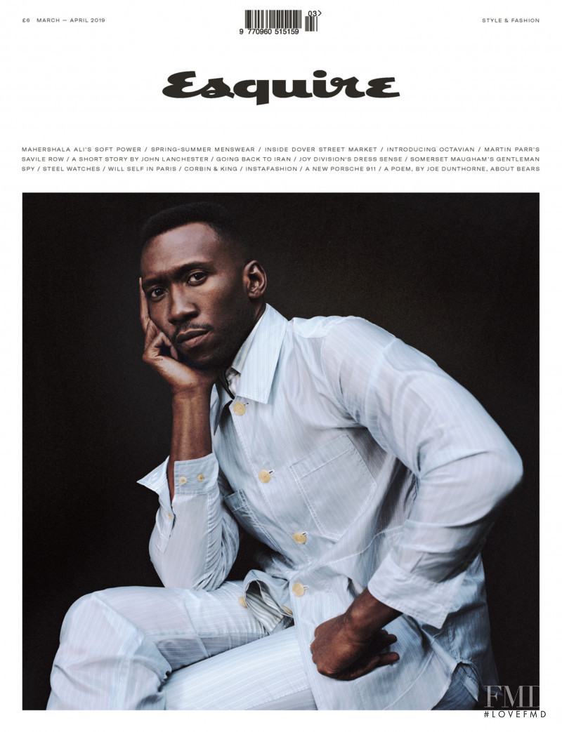 Mahershala Ali featured on the Esquire UK cover from March 2019