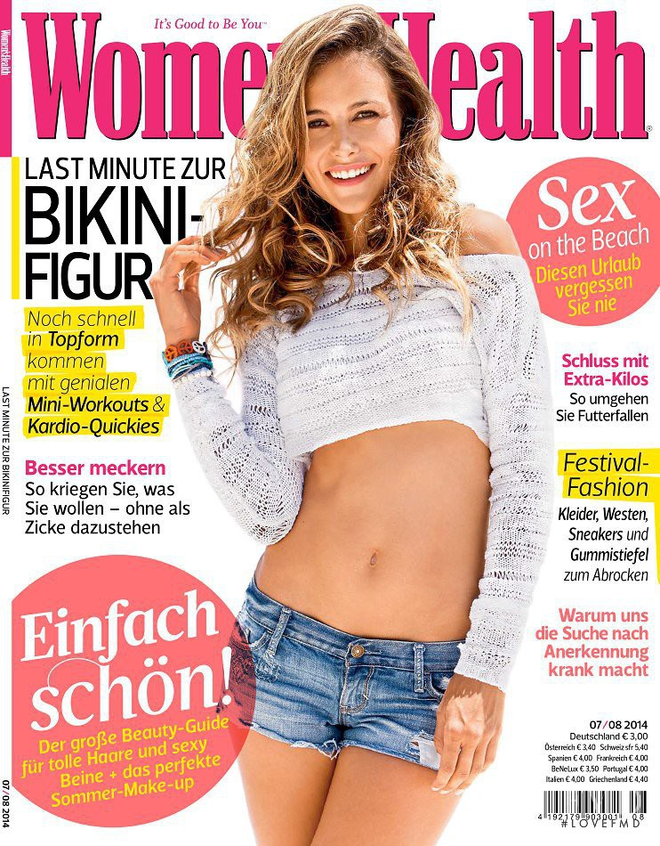 Natalia Borges featured on the Women\'s Health cover from August 2014