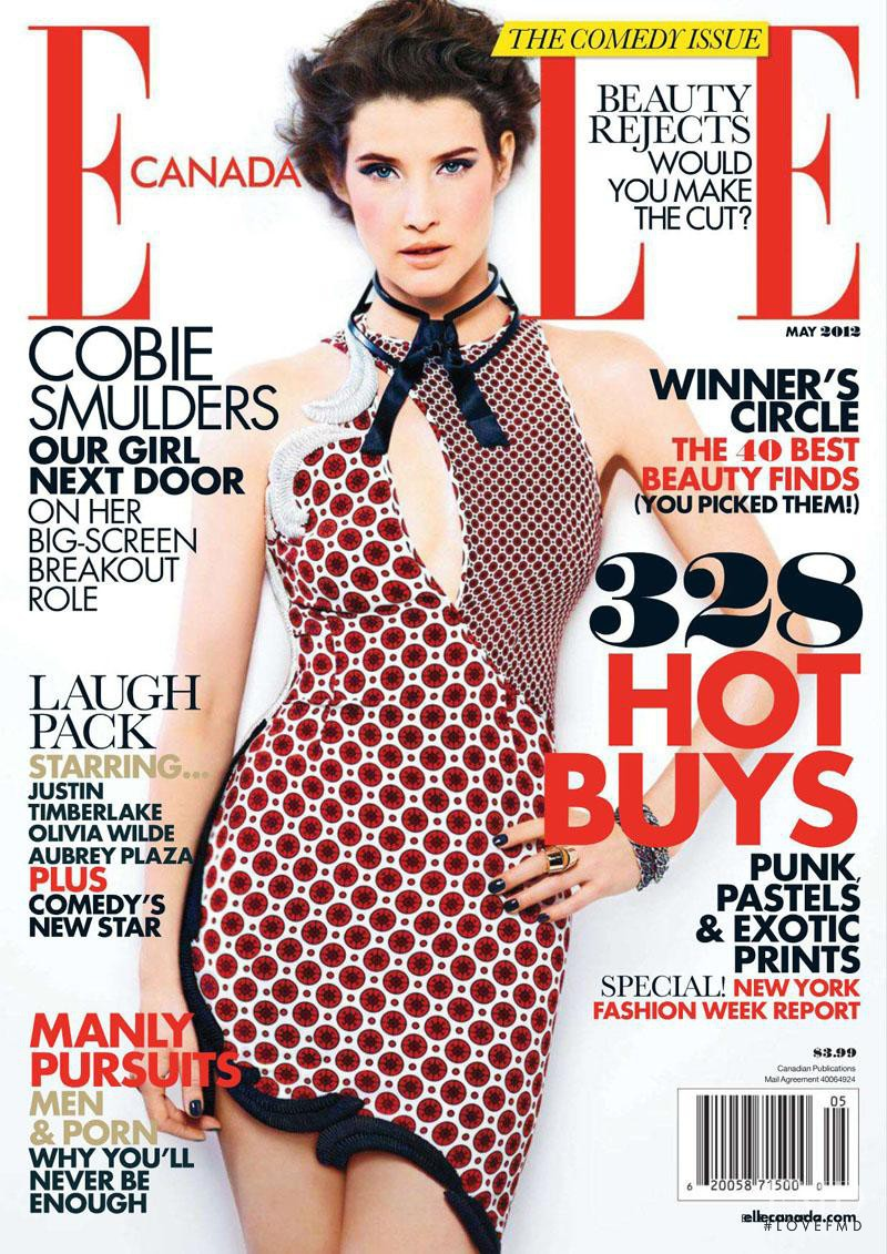 Cobie Smulders featured on the Elle Canada cover from May 2012