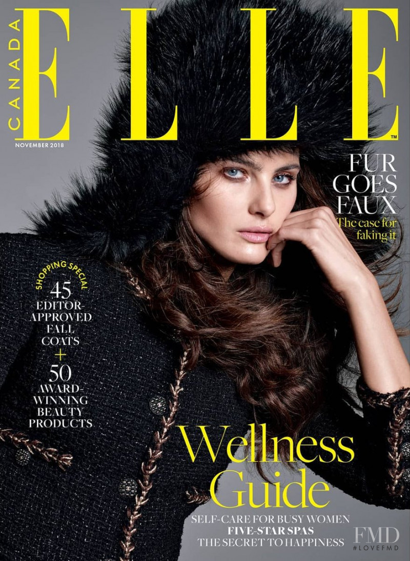 Isabeli Fontana featured on the Elle Canada cover from November 2018