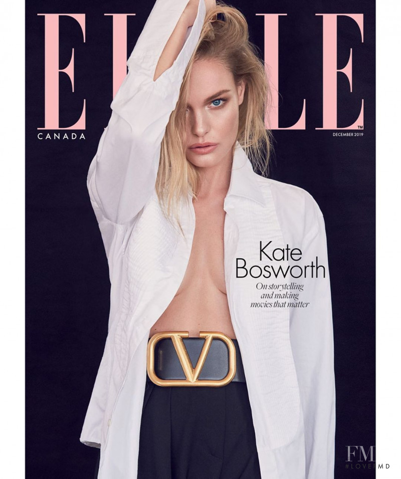 Kate Bosworth featured on the Elle Canada cover from December 2019