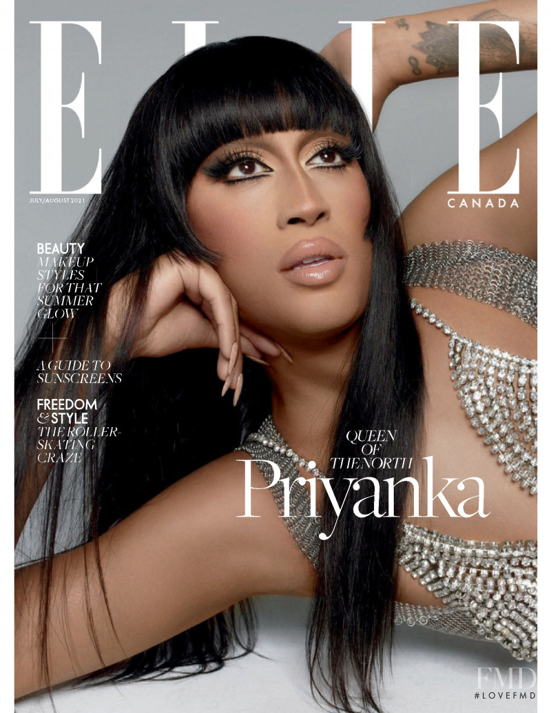 Priyanka featured on the Elle Canada cover from July 2021