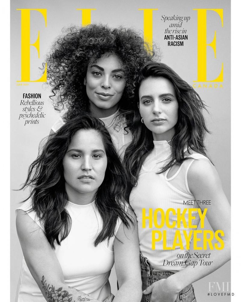 Brigette Lacquette, Sarah Nurse, Hanna Bunton featured on the Elle Canada cover from June 2021