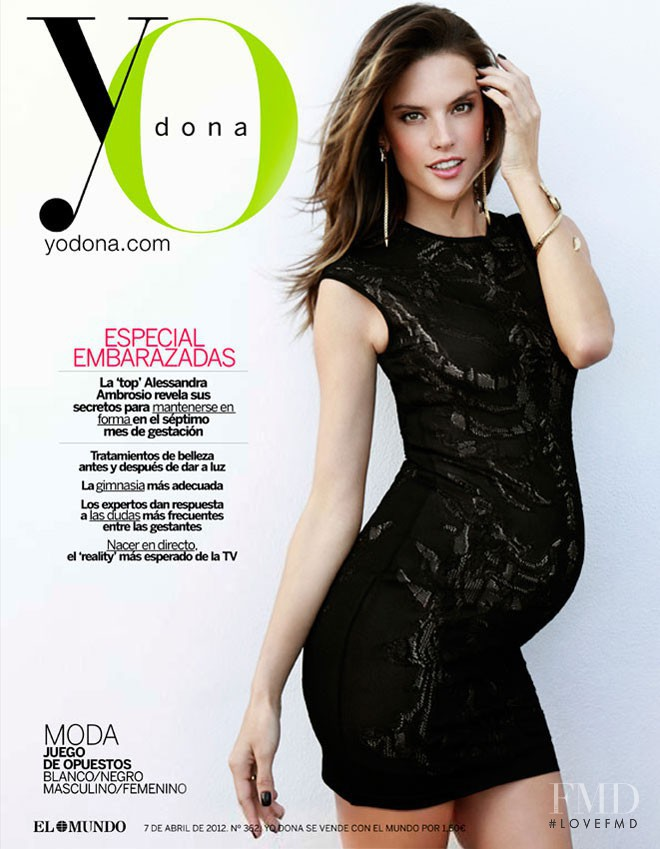 Alessandra Ambrosio featured on the Yo Dona cover from April 2012