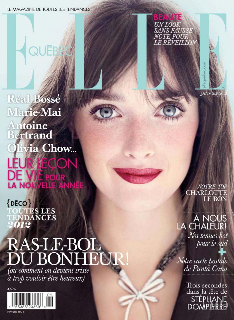 Charlotte Le Bon featured on the Elle Quebec cover from January 2012