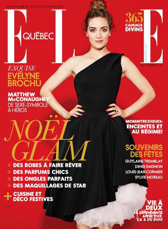 Evelyne Brochu featured on the Elle Quebec cover from December 2013