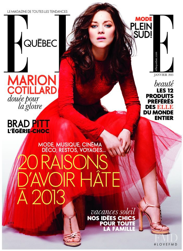 Marion Cotillard featured on the Elle Quebec cover from January 2013