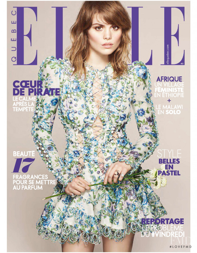 featured on the Elle Quebec cover from May 2018