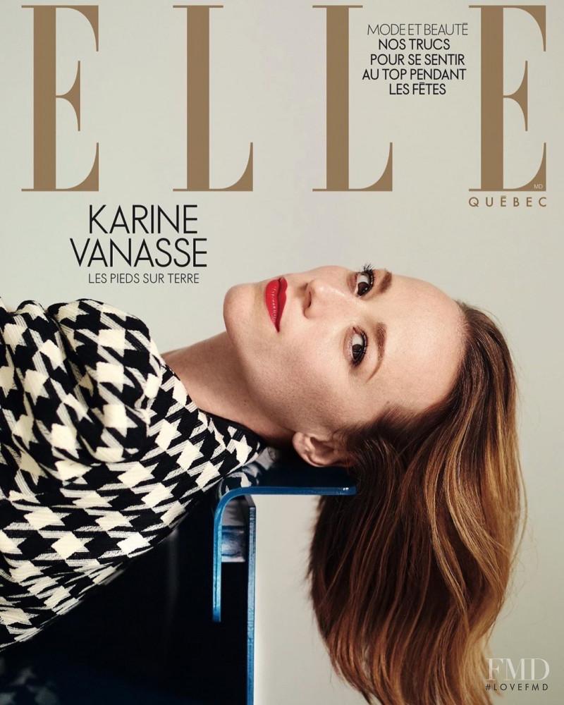 Karine Vanasse  featured on the Elle Quebec cover from December 2019