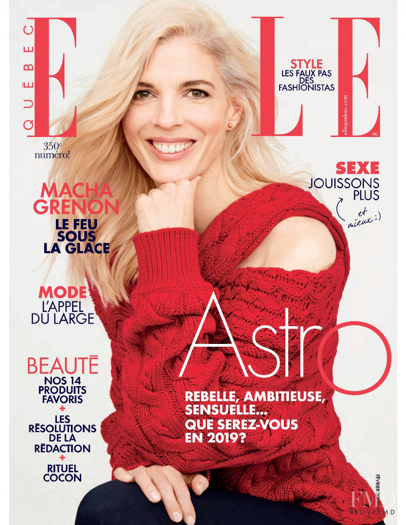 featured on the Elle Quebec cover from February 2019