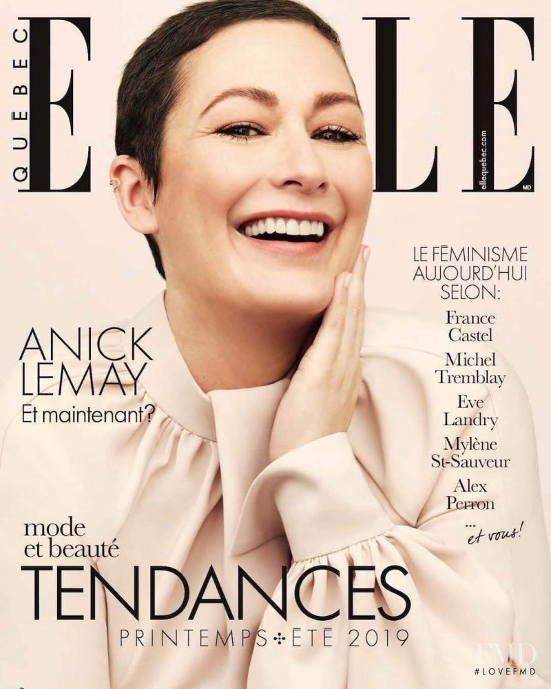 Anick Lemay featured on the Elle Quebec cover from March 2019