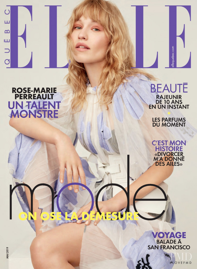 featured on the Elle Quebec cover from May 2019
