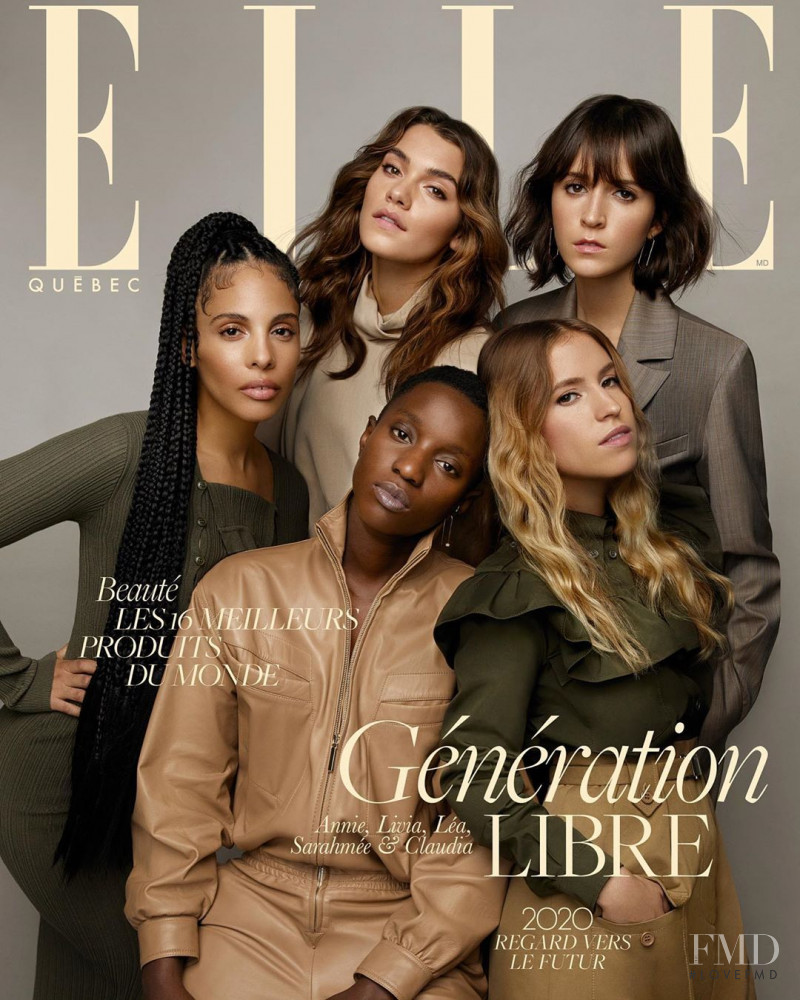 featured on the Elle Quebec cover from January 2020