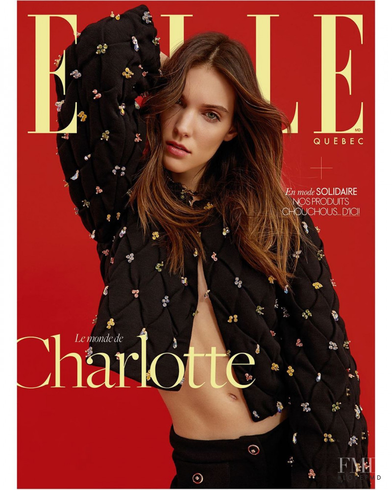 featured on the Elle Quebec cover from June 2020