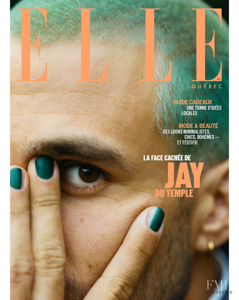 Jay Du Temple  featured on the Elle Quebec cover from December 2020