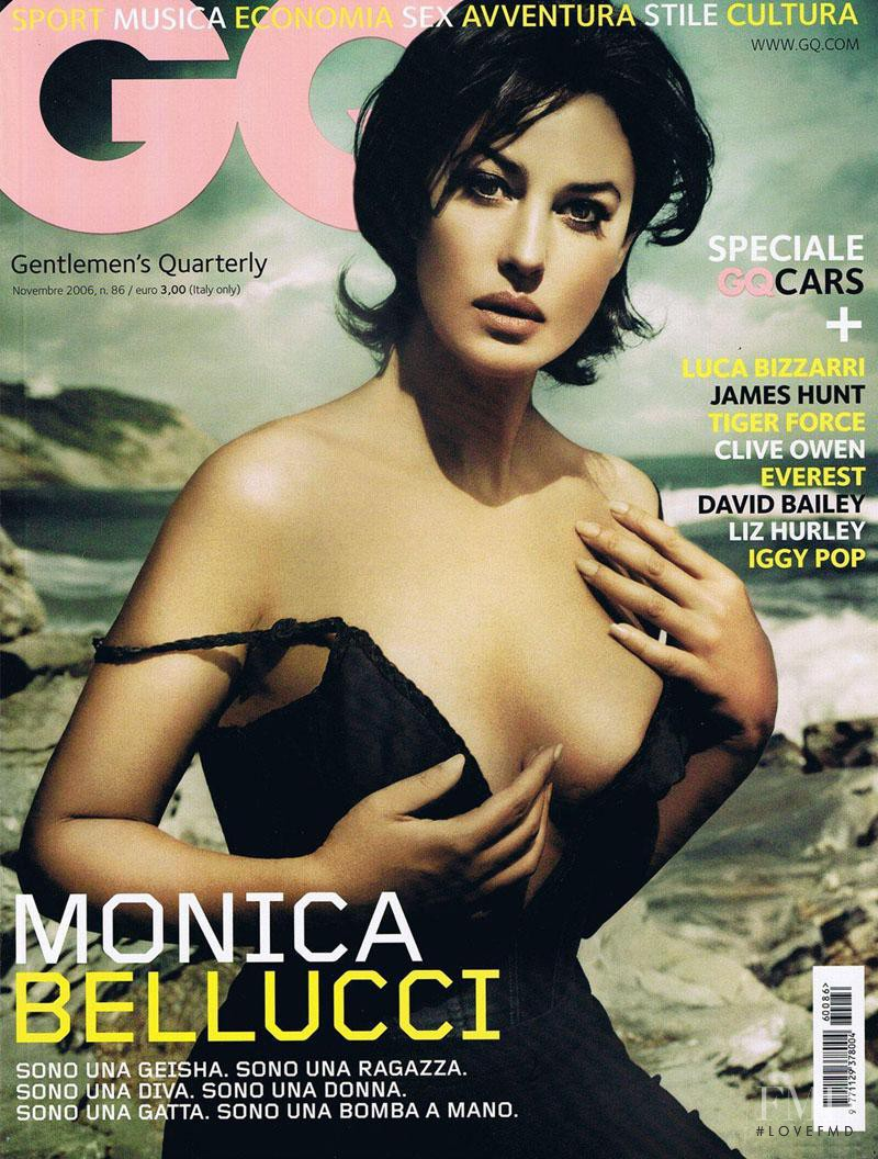 Monica Bellucci featured on the GQ USA cover from November 2006