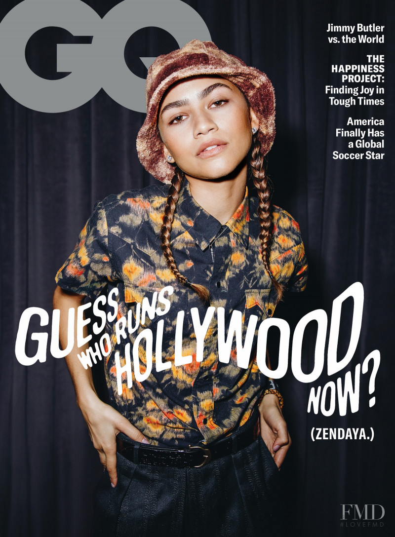 Zendaya featured on the GQ USA cover from February 2021