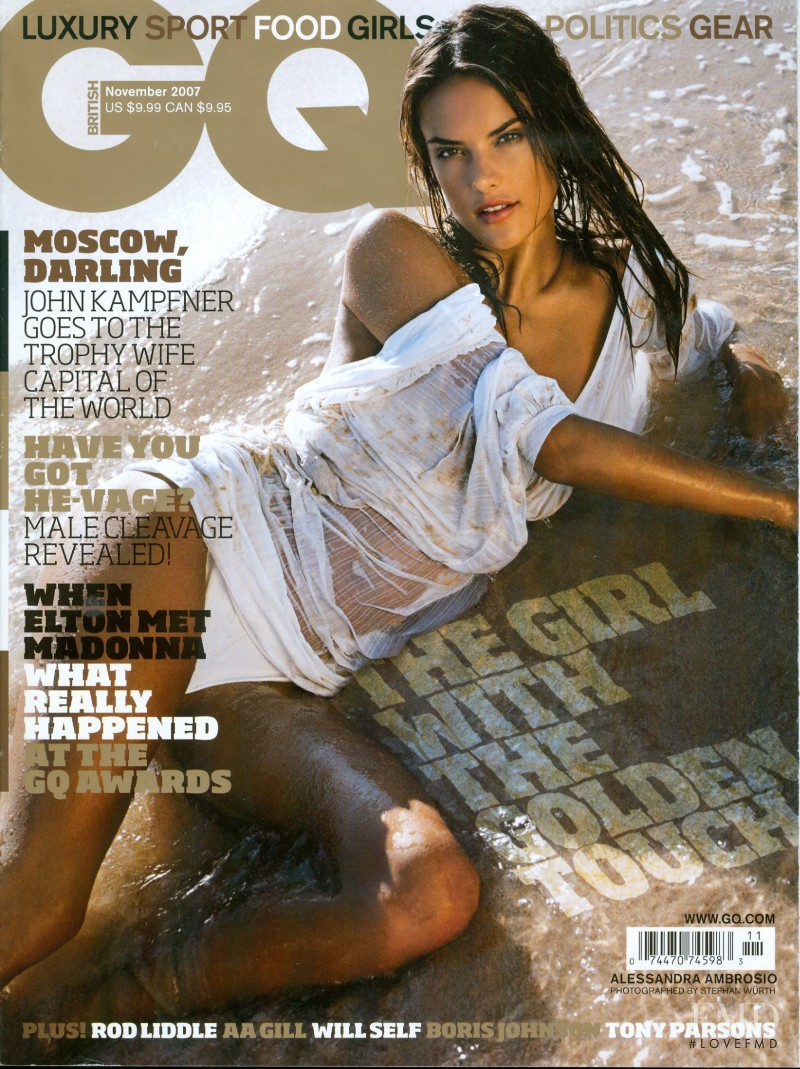 Alessandra Ambrosio featured on the GQ UK cover from November 2007