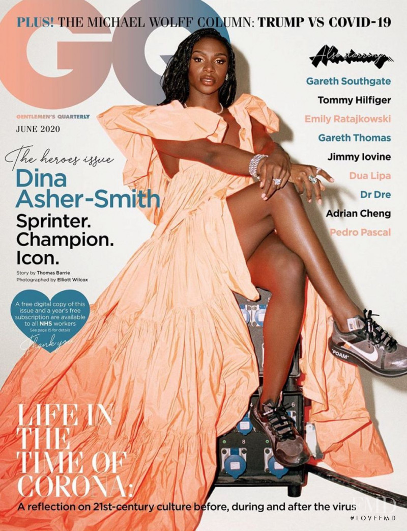 Dina Asher-Smith featured on the GQ UK cover from June 2020