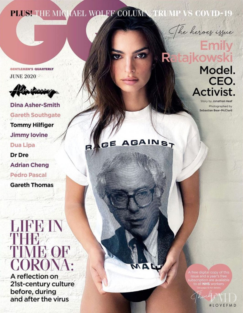 Emily Ratajkowski featured on the GQ UK cover from June 2020