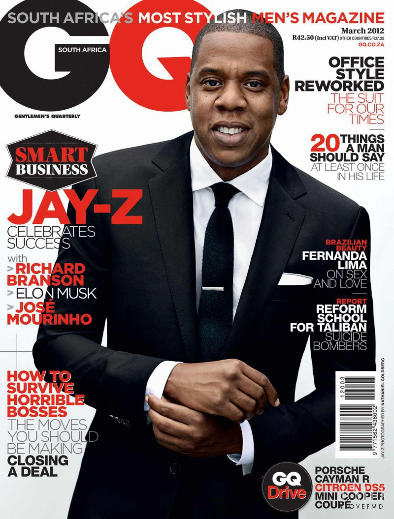 Cover of GQ South Africa with Jay-Z, March 2012 (ID:22071