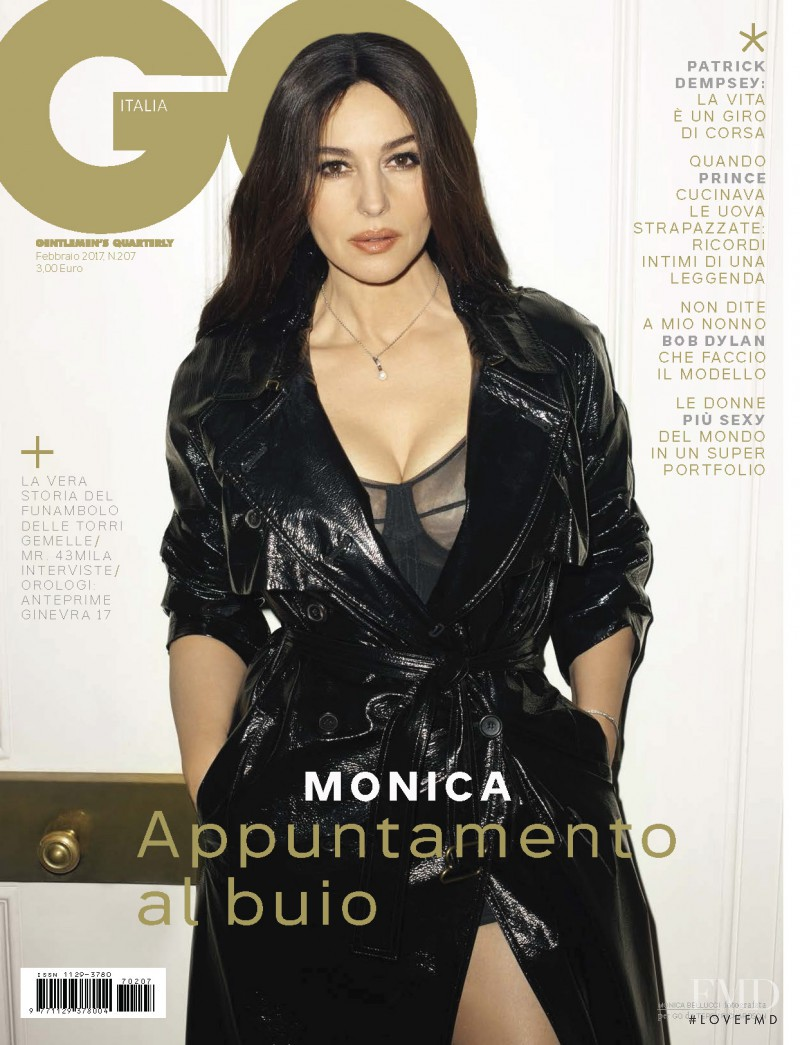 Monica Bellucci featured on the GQ Italy cover from February 2017