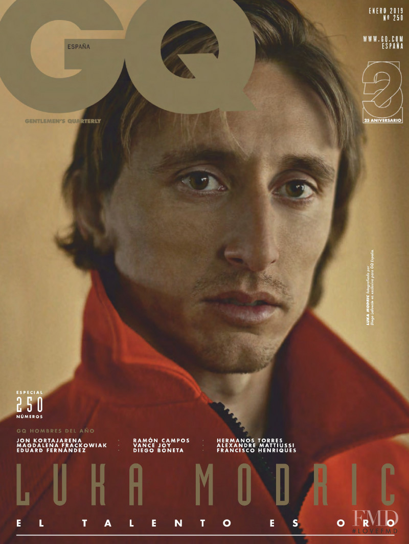 Luka Modric featured on the GQ Spain cover from January 2019