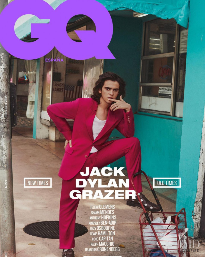 Jack Dylan Grazer featured on the GQ Spain cover from February 2021