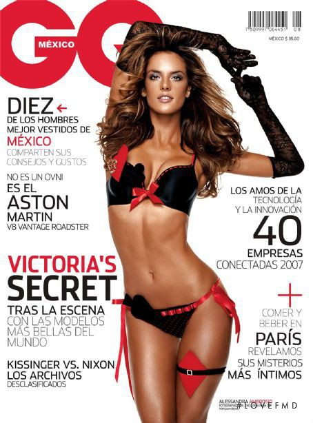 Alessandra Ambrosio featured on the GQ Mexico cover from July 2007