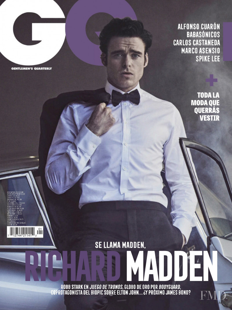Richard Madden featured on the GQ Mexico cover from February 2019