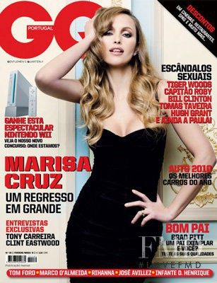 Marisa Cruz featured on the GQ Portugal cover from February 2010