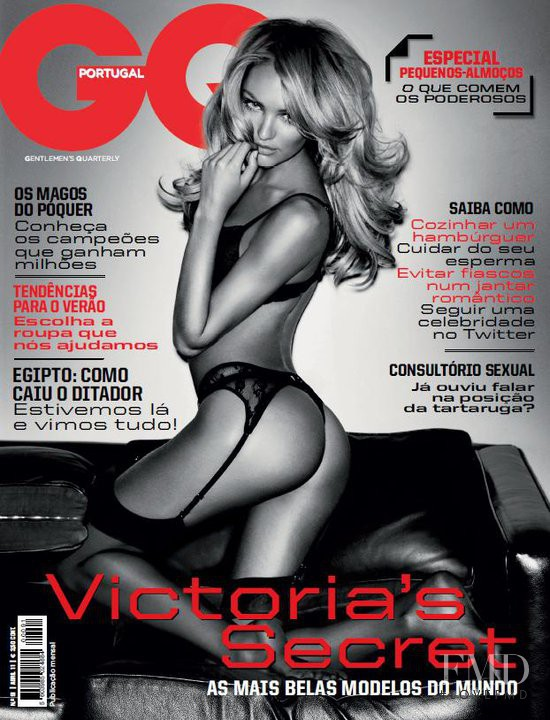 Candice Swanepoel featured on the GQ Portugal cover from April 2011