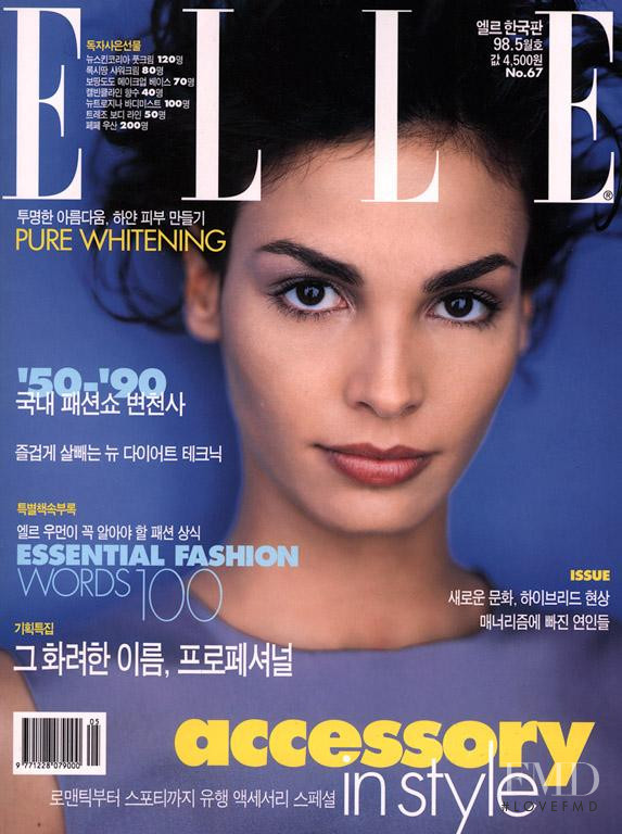 Ines Sastre featured on the Elle China cover from January 1999
